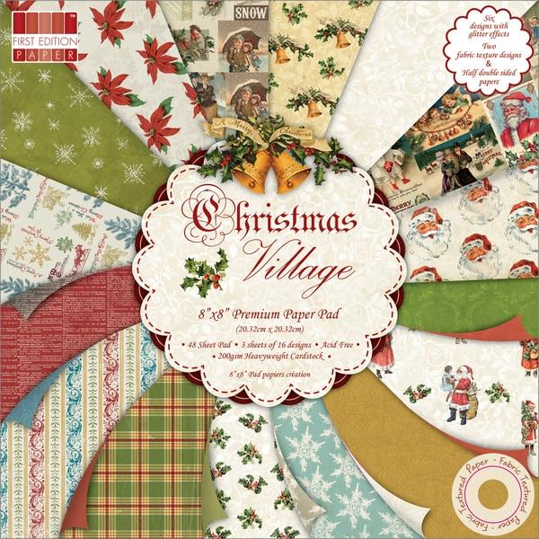 "Premium Paper Pad 8""X8"" 48/Sheets-Christmas Village"
