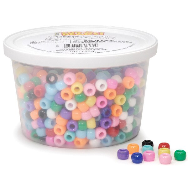 Tub-O-Beads Opaque Pony Beads 7 Ounces-Multi Color
