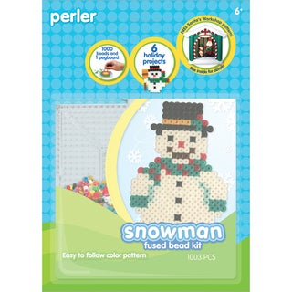 Perler Fun Fusion Fuse Bead Activity Kit-Snowman