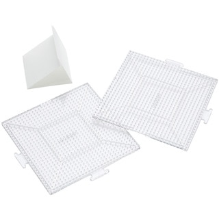Perler Replacement Pegboards 2/Pkg-Large Clear Square