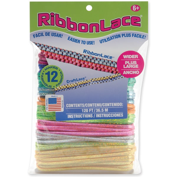 RibbonLace Mega Pack 120 Feet/Pkg-Holographic