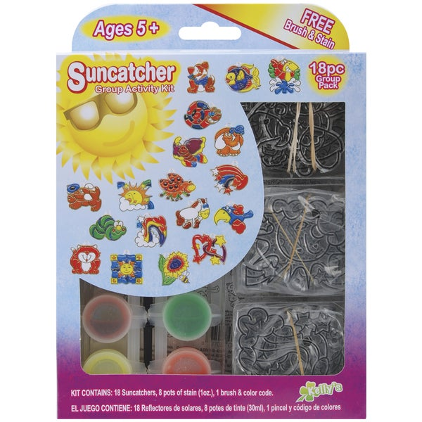 Suncatcher Group Activity Kit-Fun Animal 18/Pkg