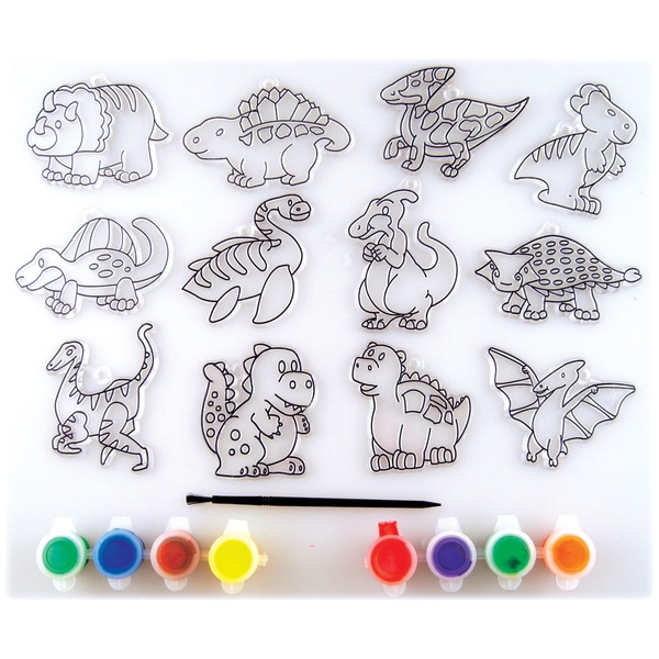 Suncatcher Group Activity Kit-Dinosaur 12/Pkg