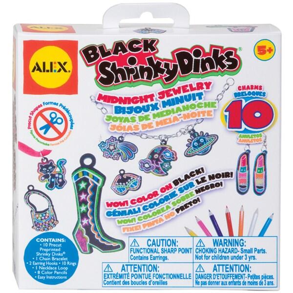Shrinky Dinks Jewelry Kit-Black Midnight