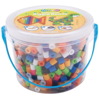 Perler Fun Fusion Biggie Bead Bucket 1200/Pkg-Assorted Colors