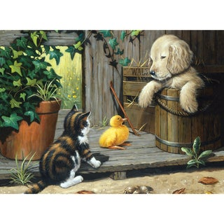 """Junior Large Paint By Number Kit 15-1/4""""X11-1/4""""-Three Buddies"""