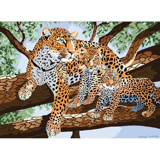 """Junior Large Paint By Number Kit 15-1/4""""X11-1/4""""-African Leopard & Cub"""