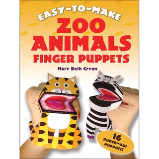 Dover Publications-Easy To Make Zoo Animals Finger Puppets