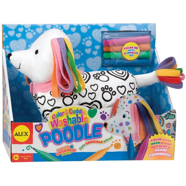 Color & Cuddle Washable Kit-Poodle
