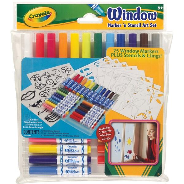 Crayola Marker 'n Stencil Art Set-