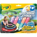 Crayola 3D Sidewalk Chalk-5/Pkg
