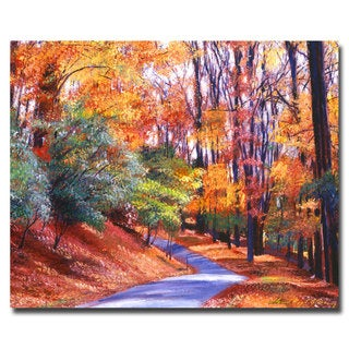 David Lloyd Glover 'Along the Winding Road' Canvas