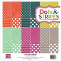 Dots &amp; Stripes 3 Jewels Collection Kit 12&quot;X12&quot;-12 Double-Sided Cardstock Sheets