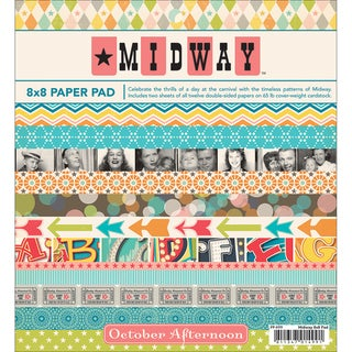 "Midway Paper Pad 8""X8"" 24 Sheets-12 Double-Sided Designs/2 Each"