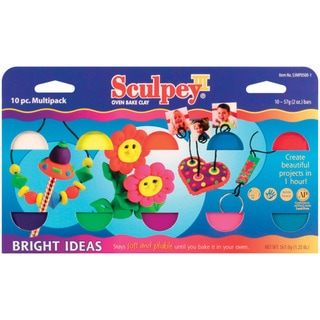 Sculpey III Polymer Clay Multi Pack 2 Ounces 10/Pkg-Bright Ideas
