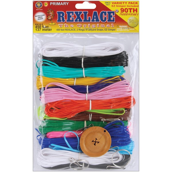 Rexlace Plastic Lacing 450 Feet-Primary