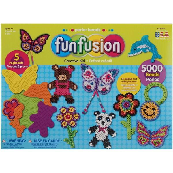 Perler Fun Fusion Fuse Bead Value Activity Kit-Creative Kid