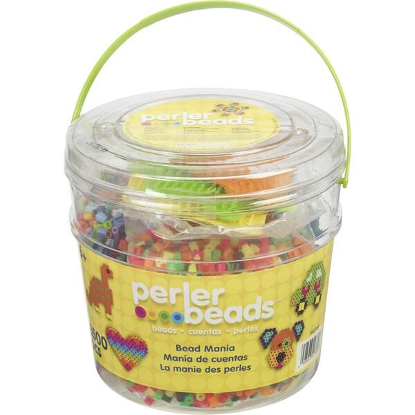 Perler Fun Fusion Fuse Bead Activity Bucket-Bead Mania