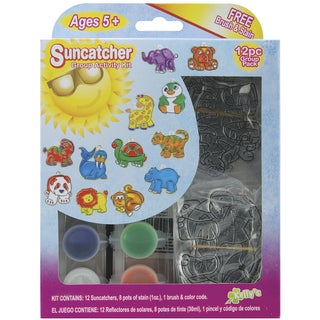 Suncatcher Group Activity Kit-Zoo 12/Pkg