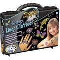 Glittery Rings And Tattoos Kit