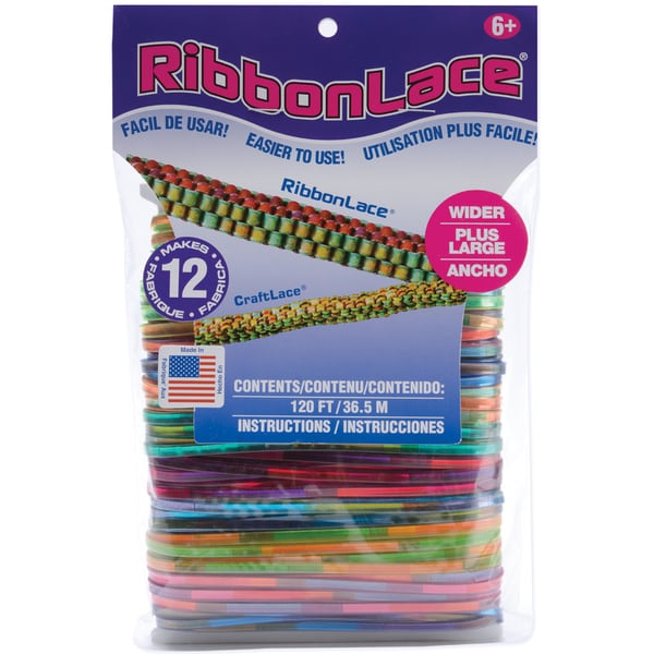 RibbonLace Mega Pack 120 Feet/Pkg-Tiedye