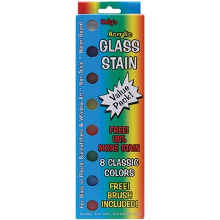 Glass Stain Paint Pots Value Pack-Classic