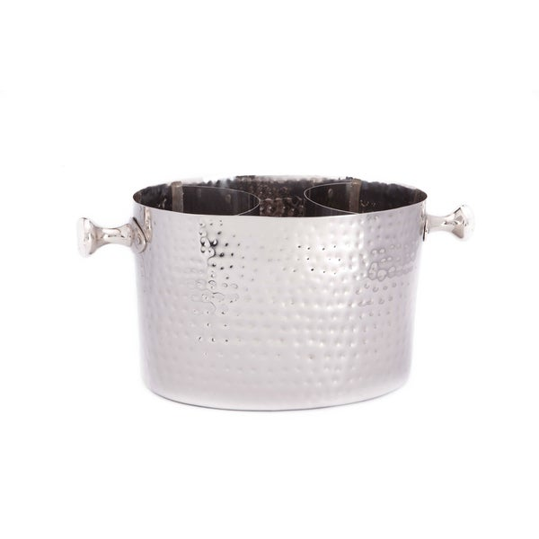 Hammered Double Champagne Chiller with Insert