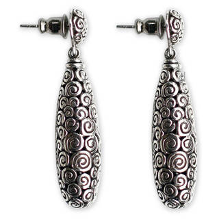 Sterling Silver 'Clouds' Earrings (Indonesia)