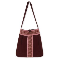 Cotton 'Lanna Bouquet' Large Shoulder Bag (Thailand)
