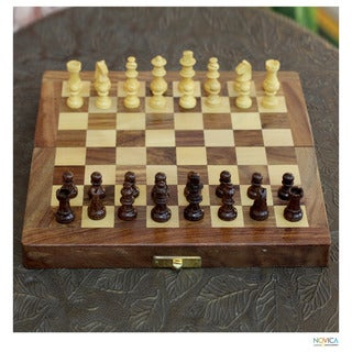 Seesham and Kadam Wood 'Love of The Game' Chess Set (India)