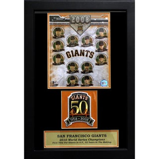 San Francisco Giants 50 Year Anniversary Photo/Patch Frame (12 x 18)