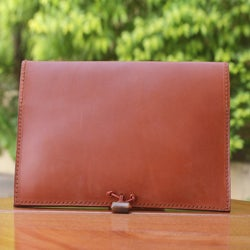 Leather 'Tan Indulgence' iPad Case (Ghana)