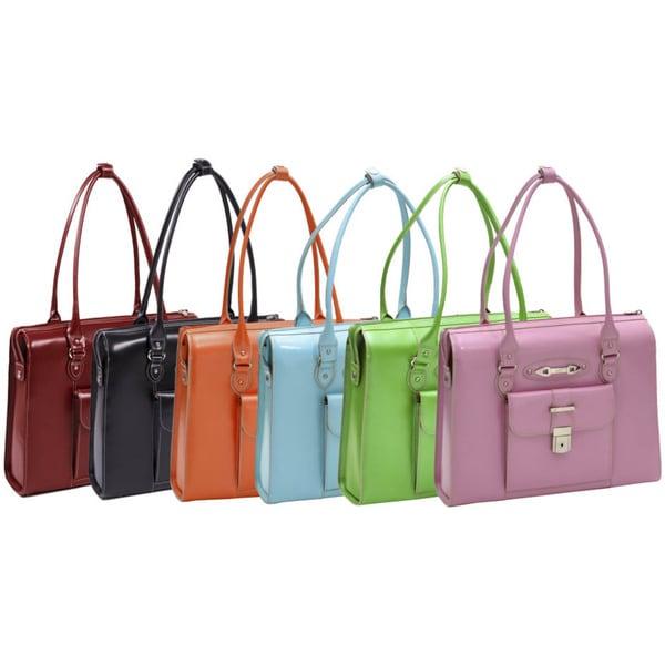 McKlein Women's River Forest Leather 15.4-inch Laptop Briefcase