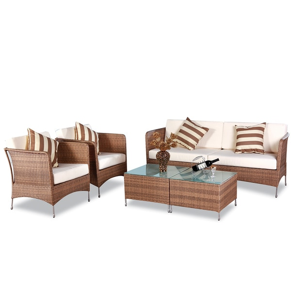 Huntington Caramel 5 Piece Outdoor Furniture Set