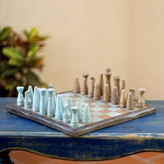 Pinewood 'Evening on the Ranch' Chess Set (Mexico)