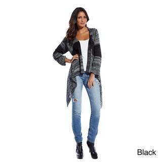 Elan Women's Striped Knit Wrap Sweater