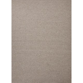 Flat Weave Solid Gray/ Black Wool Rug (5' x 8')