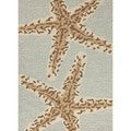 Coastal Silver Lake Blue Blue Indoor/ Outdoor Rug (5' x 7'6)