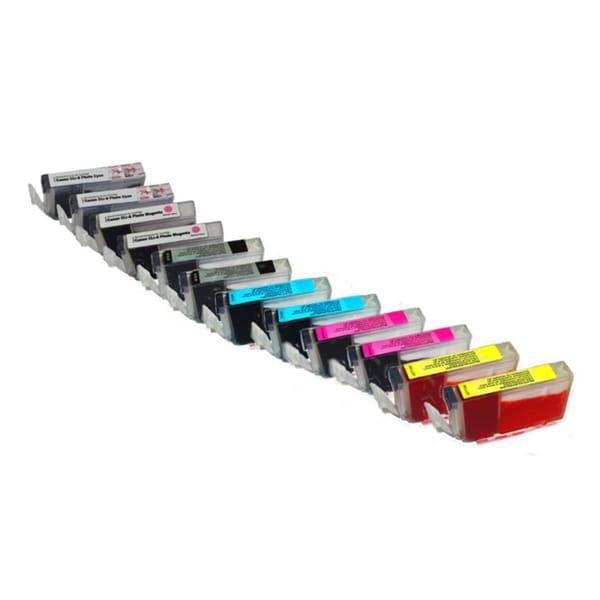 CLI 8, 2 black, 2 cyan, 2 magenta, 2 yellow, 2 photo cyan, 2 photo magenta - 12 pack - Remanufactured
