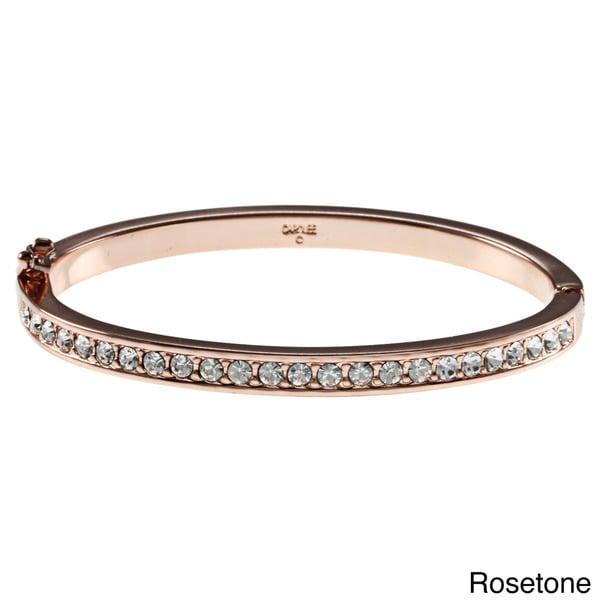 Carolee Hinge CZ Bangle Bracelet