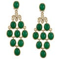 Carolee CZ Oval Cab Chandelier Earrings