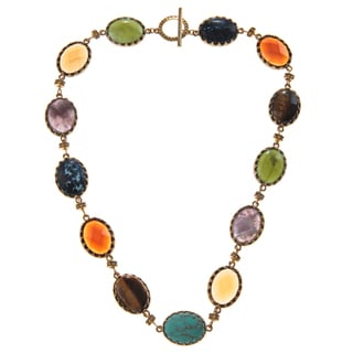 Ralph Lauren Bezel Oval Beads Necklace