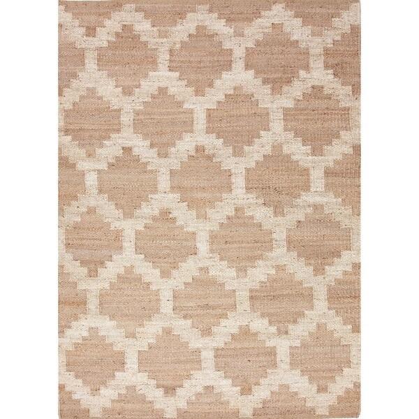 Flat Weave Moroccan Beige Hemp/ Jute Rug (2' x 3')