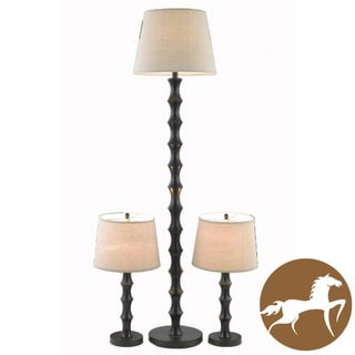 Christopher Knight Home Black 2-light Floor Lamp and Table Lamp Set