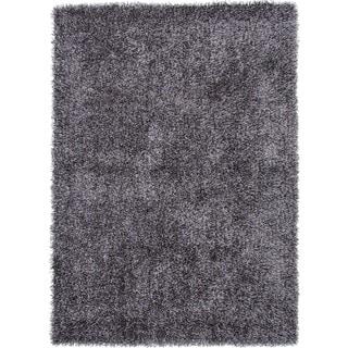 Gray/Black Solid Shag Area Rug (9' x 13')