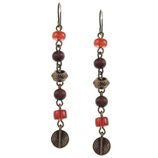 Ralph Lauren Small Multi Bead Linear Dangle Earrings
