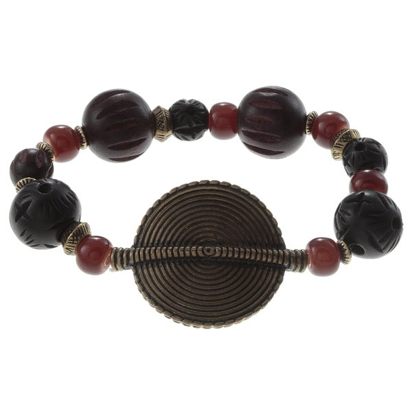 Ralph Lauren Large Multi Bead Stretch Bracelet