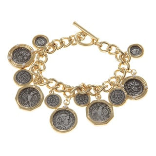 Ralph Lauren Goldtone Coin Charms Bracelet