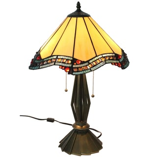 "Tiffany Style ""Citrine"" Table Lamp"