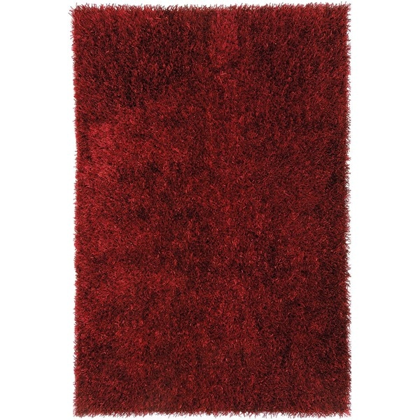 Red Solid Shag Rug (9' x 13')